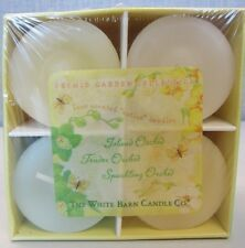VINTAGE BATH BODY WORKS WHITE BARN ISLAND SPARKLING TENDER ORCHID VOTIVE CANDLES