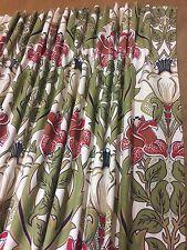 iliv  Art Deco Acanthus Cherry (William Morris Style) Curtains Hand Sewn,4 Cols