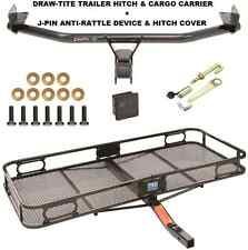 TRAILER HITCH + CARGO BASKET CARRIER + SILENT PIN LOCK FITS 16-17 HYUNDAI TUCSON