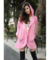 Pink Jacket Size 20 Hooded Ladies Womens Lightweight Fleece Coat