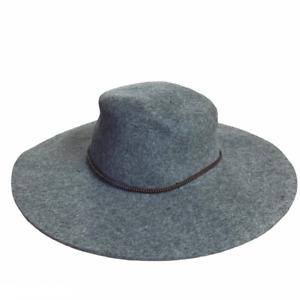 FRYE NEW $148 Wool Felt Boater Hat in Lead Gray XL
