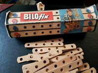 Vintage Bilofix 3 Wooden Construction Kit, original,plus extra from unboxed kit.