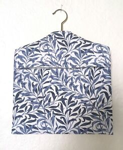 A Peg Bag with Wooden Hanger, William Morris 'Willow Bough — Blue' 100% Cotton