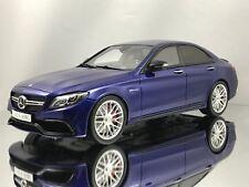 GT Spirit Mercedes Benz C63 S Sedan AMG Metallic Dark Blue Resin Model Car 1:18