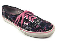 Vans Off The Wall Hello Kitty Face Pink Black Lace-Up Shoes Womens 11 Mens 9.5