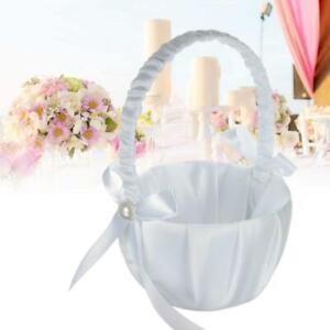 Flower Romantic Bowknots Wedding Ceremony Party Rose-Flower Girl Makeup Baskets