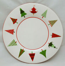 """Yankee Candle Christmas Tree Plate 7"""" Red and Green Whimsy"""