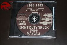1984-85 Chevy Light Duty Pickup Truck Shop Manuals CD ROM C 10 20 30 Blazer PDF