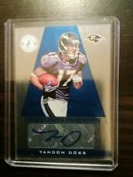 Tandon Doss Autographed 2011 Totally Certified #187 25/299 ROOKIE Ravens