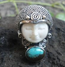 Turquoise Band Sterling Silver Handcrafted Rings