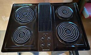 Jenn Air CVE4270B Electric Downdraft 4 Burner Coil Cooktop Black