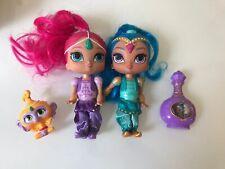 Shimmer Shine Doll Lot ~ Shimmer, Shine, Tala Monkey & Accessory Toy