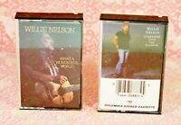 Lot 2 Willie Nelson Cassette Tapes Somewhere Over The Rainbow Wonderful World
