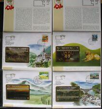 Svizzera Schede telefoniche Cartoline Di Telefono Taxcard 4 diff,Mappe: striscia