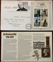 Rowland Hill Post Office First Day Cover 24 October 1979 + Insert