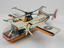 Sky Patrol Tin Litho Fairley Rotodyne Friction Helicopter Yonezawa Japan Works!
