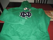 MENS ADIDAS NCAA NOTRE DAME FIGHTING IRISH HOODIE SIZE L LARGE GREEN  NWT