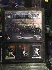 BALTIMORE RAVENS 12x15 PLAQUE 8X1O PHOTO 3 CARDS RAY LEWIS LAST DANCE