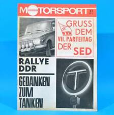 DDR Illustrierter Motorsport IMS 8/1967 Fiat 125 Moped Rallye DDR Tanken A