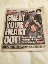 NEW ENGLAND PATRIOTS SUPERBOWL 51  NEWSPAPERS 2/5/2017