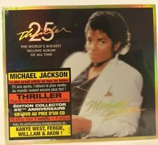 Michael Jackson Thiller 25 Anniversary édition CD & DVD  French Sticker New