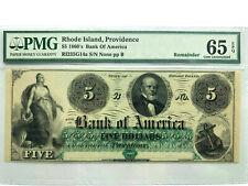 Rhode Island - Bank of America $5 - Haxby RI 235-G14a - PMG GEM UNC 65 EPQ!