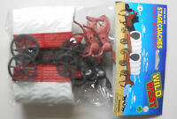 1:32 Wild Western 2 Covered  Wagon 4 Horses Plastic Toy Soldier Figures In Bag