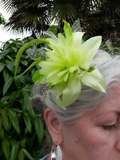 Fascinator Hat Green Wedding Headband  Hairpeice Flower lime green SELLER IS AWA