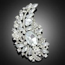 Fashion large big brooch and pin crystal rhineston wedding bridal women Bouquet