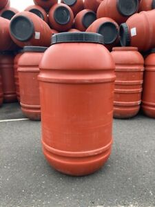 220L Plastic Barrel Drum - Red - Water Storage Container - COLLECTION ONLY