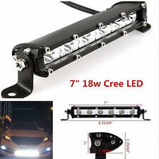18W 7inch Spot Flood Combo Work Light Bar Waterproof Slim Cree LED Offroad SUV