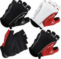 Castelli Rosso Corsa Bicycle Half Finger Cycling Gloves Mountain Bike Gloves