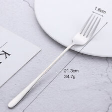 1Pcs Stainless Steel Fork With Long Handle Dinner Dessert Table Forks Cutlery