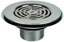 "Mobile Home Shower Drain 3-1/2 to 4""opening 4-1/2"" Flat Top Stainless Steel"