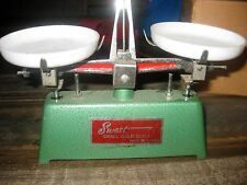 Vintage small gold scale, with weights
