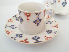 Turkish Anatolian Coffee&Espresso Set Ottoman Design Porcelain 12 PCS