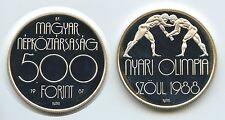 GS631 - Ungarn 500 Forint 1988 BP KM#660 Seoul Olympia Silber Hungary Magyar
