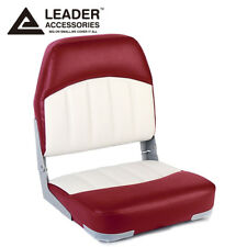 Leader Accessories New Fishing Folding Boat Seat (Red/White)