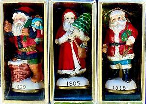 Memories of Santa (MOS) Porcelain Christmas Ornament Trio 1899, 1905, & 1918