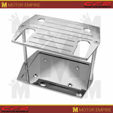 For Chevy Ford Mopar Ball Milled Chrome Billet Optima Group 75 25 Battery Tray