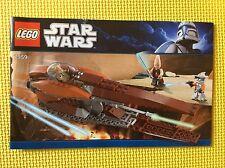 New Lego Instruction Manual ONLY Star Wars Geonosian Starfighter 7959