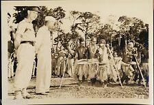 Photo New Britain New Guinea native women dancing General Brush US 40th Div US