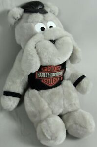 Harley Davidson Bulldog Plush Dog Stuffed Animal Play by Play 12 inch Vtg 1993