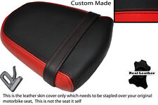 Motorcycle Seat Covers black stitch 06-08 K6 K7 K8 600/750 CUSTOM FITS SUZUKI GSXR LEATHER SEAT COVER