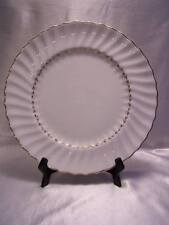 "ROYAL DOULTON ADRIAN DINNER PLATE 10 5/8"" ENGLAND CHINA White/Gold Rim Beautiful"