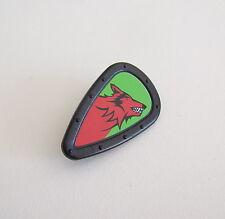 PLAYMOBIL (L611) MOYEN-AGE - Bouclier Noir Tête de Loup Rouge Chevaliers 4440