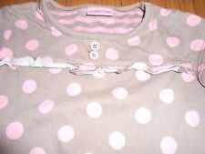 Cherokee girls' light brown top with pink spots, age 2-3 yrs