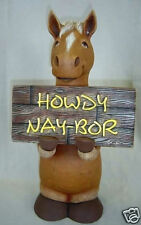 Ceramic Bisque Ready to Paint Howdy Nay-Bor HORSE