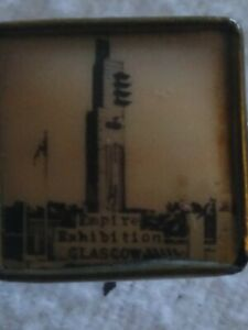 1938 GLASGOW EXHIBITION TOWER OF EMPIRE PIN BROOCH. VERY RARE AND PRETTY