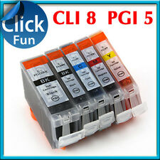 10x Ink for Canon CLi8 PGI 5BK MP610 MP500 MP600 MP530 MP810 MP800 MP830 MX850